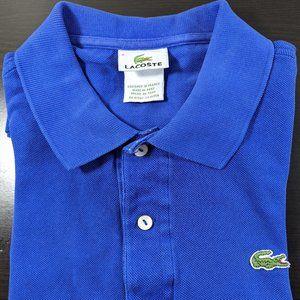Lacoste Men's Medium Polo Shirt Blue Sz 5